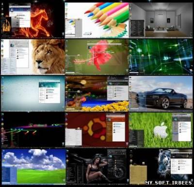 Коллекция из 270 тем оформления Windows 7