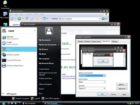 Тема  в стиле Windows Vista