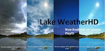 Озеро погода HD – замечательные живые обои для андроид устройств