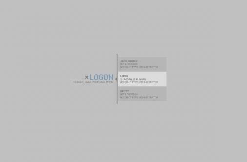 Экран приветствия для Windows XP-graphite_logonui